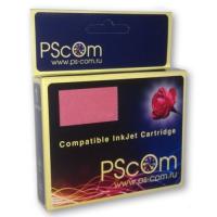 Картридж Ps-Com (увеличенной емкости) универсальный голубой (cyan) совместимый с Brother LC-970C / LC-1000C, объем 37 мл.