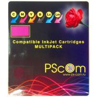Комплект картриджей Ps-Com совместимых c Epson T7016 B/C/M/Y. Ресурс 3400 с. Артикул C13T701440. Для WP-4015/25/95/4515/25/35/45