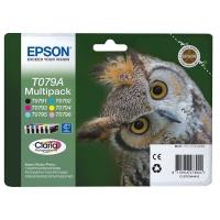 Комплект картриджей оригинальный (блистер) Epson T079A / C13T079A4A10 (Bl, C, M, Y, LC, LM), ресурс 6 х 11,1 мл.
