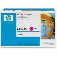 Картридж оригинальный пурпурный (magenta) HP CB403A, ресурс 7500 стр.