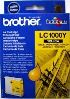 Картридж оригинальный желтый (yellow) Brother LC-1000Y, ресурс 400 стр.