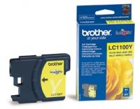 Картридж оригинальный желтый (yellow) Brother LC-1100Y, ресурс 325 стр.