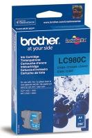 Картридж оригинальный голубой (cyan) Brother LC-980C, ресурс 260 стр.