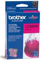 Картридж оригинальный пурпурный (magenta) Brother LC-980M, ресурс 260 стр.