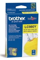 Картридж оригинальный желтый (yellow) Brother LC-980Y, ресурс 260 стр.