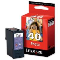 Картридж оригинальный цветной Lexmark 18Y0340E (№40) Photo Color, ресурс 135 стр.