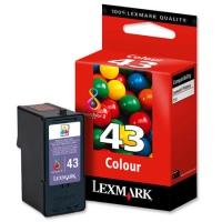 Картридж оригинальный цветной Lexmark 18YX143E (№43XL) Color, ресурс 300 стр.