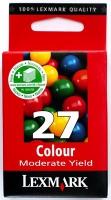 Картридж оригинальный цветной Lexmark 10N0227 (№27) Color, ресурс 140 стр.