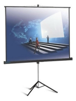 Экран Classic Solution Libra 200x200 (80''х80'') (T200X200/1WMW-LS/B). Корпус черный. Поверхность белая матовая без рамки.