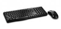 Комплект Rapoo X1800 Black USB беспроводные мышь и клавиатура