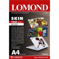 Lomond 1708462(Skin)-Белая мат.самоклеющаяся пленка- Синтетическая Кожа  для пигм. чернил  A4 ,2 листа.