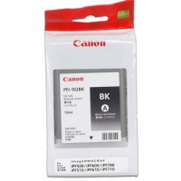 Картридж Canon PFI-102Bk черный для iPF500/iPF510/iPF600/iPF605/iPF610/iPF700/iPF710/iPF720. Объем 130 мл.
