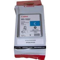 Картридж Canon PFI-102C синий для iPF500/iPF510/iPF600/iPF605/iPF610/iPF700/iPF710/iPF720. Объем 130 мл.