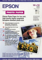 Бумага Epson S041255 (Glossy Photo Paper) глянцевая, А6, 194 г/м2, 20 л.