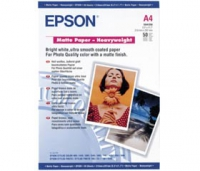 Бумага Epson S041256 (Matte Paper-Heavyweight) матовая, A4, 167 г/м2, 50 л.