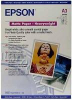 Бумага Epson S041261 (Matte Paper-Heavyweight) матовая, А3,167 г/м2, 50 л.