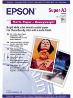 Бумага Epson S041264 (Matte Paper-Heavyweight) матовая, А3+,167 г/м2, 50 л.