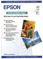 Бумага Epson S041344 (Archival Matte Paper) матовая, А3, 192 г/м2, 50 л.
