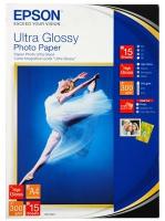 Бумага Epson S041943 (Ultra Glossy Photo Paper) супер глянцевая A6, 300 г/м2, 50 л.