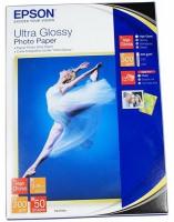 Бумага Epson S041944 (Ultra Glossy Photo Paper) супер глянцевая 13x18, 300 г/м2, 50 л.