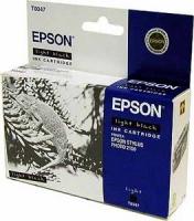 Картридж оригинальный (в технологической упаковке) светло-черный/серый (light black) Epson T0347, ресурс 440 стр.