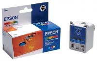 Картридж оригинальный (в технологической упаковке) цветной Ерson T041 color, ресурс 300 стр.