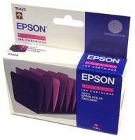 Картридж оригинальный (в технологической упаковке) пурпурный (magenta) Epson T0423, ресурс 420 стр.