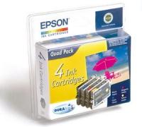 Комплект картриджей оригинальный Epson T0441 (Bl, C, M,Y)
