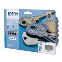 Комплект картриджей оригинальный Epson T0461 (Bl, C, M,Y)