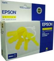 Картридж оригинальный (блистер) желтый (yellow) Epson T0474, ресурс 250 стр.