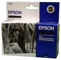 Картридж оригинальный (в технологической упаковке) черный (black) Epson T0481, ресурс 430 стр.