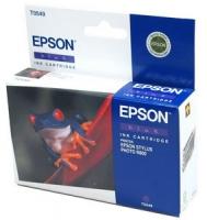 Картридж оригинальный (блистер) синий (blue) Epson T0549 / C13T05494010, ресурс 400 стр.