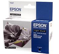 Картридж оригинальный (в технологической упаковке) серый / светло-черный (light black) Epson T0597, ресурс 440 стр.
