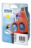 Картридж оригинальный (блистер) желтый (yellow) Epson T0634, ресурс 250 стр.