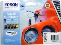 Комплект картриджей оригинальный Epson T06354A (Bk, C, M, Y)