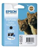 Картридж оригинальный (блистер) черный (black) Epson T0731H / C13T07311A10 / C13T10414A10, ресурс 740 стр.