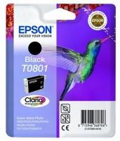 Картридж оригинальный (в технологической упаковке) черный (black) Epson Т0801 / C13T08014010, объем 7,4 мл.
