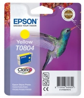 Картридж оригинальный (блистер) желтый (yellow) Epson T0804 / C13T08044010, объем 7,4 мл.