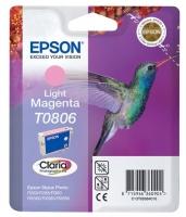 Картридж оригинальный (блистер) светло-пурпурный (light magenta) Epson T0806 /  C13T08064010, объем 7,4 мл.