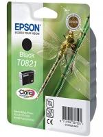 Картридж оригинальный (блистер) черный (black) Epson T0821 / C13T08214A, объем 7,5 мл.