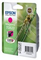 Картридж оригинальный (в технологической упаковке) пурпурный (magenta) Epson T0823 / C13T08234A, объем 7,5 мл.