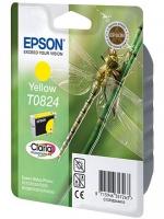 Картридж оригинальный (в технологической упаковке) желтый (yellow) Epson T0824 / C13T08244A, объем 7,5 мл.