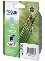 Картридж оригинальный (блистер) светло-голубой (light cyan) Epson T0825 / C13T08254A, объем 7,5 мл.