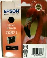Картридж оригинальный (блистер) черный (black) Epson T0871, ресурс 560 стр.