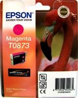 Картридж оригинальный (в технологической упаковке) пурпурный (magenta) Epson T0873, ресурс 890 стр.