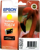 Картридж оригинальный (блистер) желтый (yellow) Epson T0874, ресурс 1160 стр.