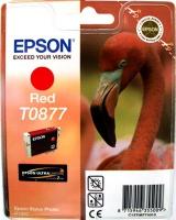 Картридж оригинальный (блистер) красный (red) Epson T0877, ресурс 915 стр.