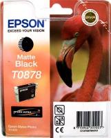 Картридж оригинальный (блистер) матовый черный (matte black) Epson T0878, ресурс 520 стр.