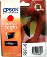 Картридж оригинальный (блистер) оранжевый (orange) Epson T0879, ресурс 1215 стр.