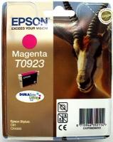 Картридж оригинальный (в технологической упаковке) пурпурный (magenta) Epson T0923 / C13T09234A10, объем 5,5 мл.